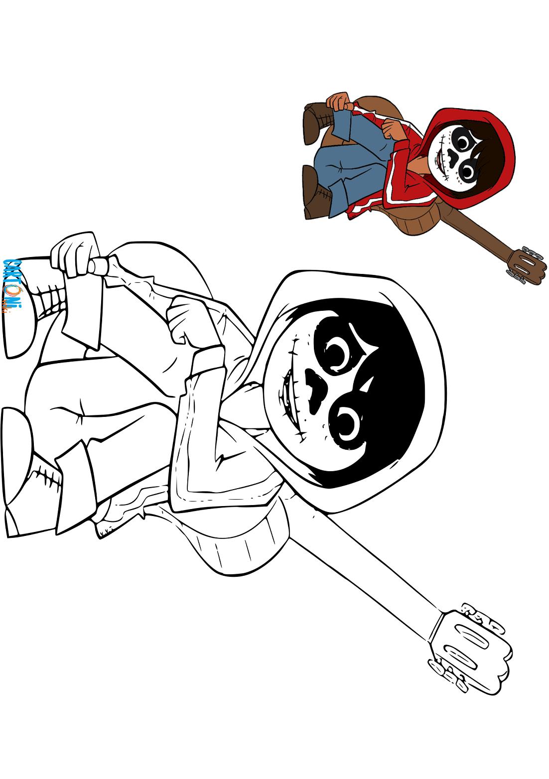 Disegni Da Colorare E Stampare Coco.Colora Coco Disney Cartoni Animati