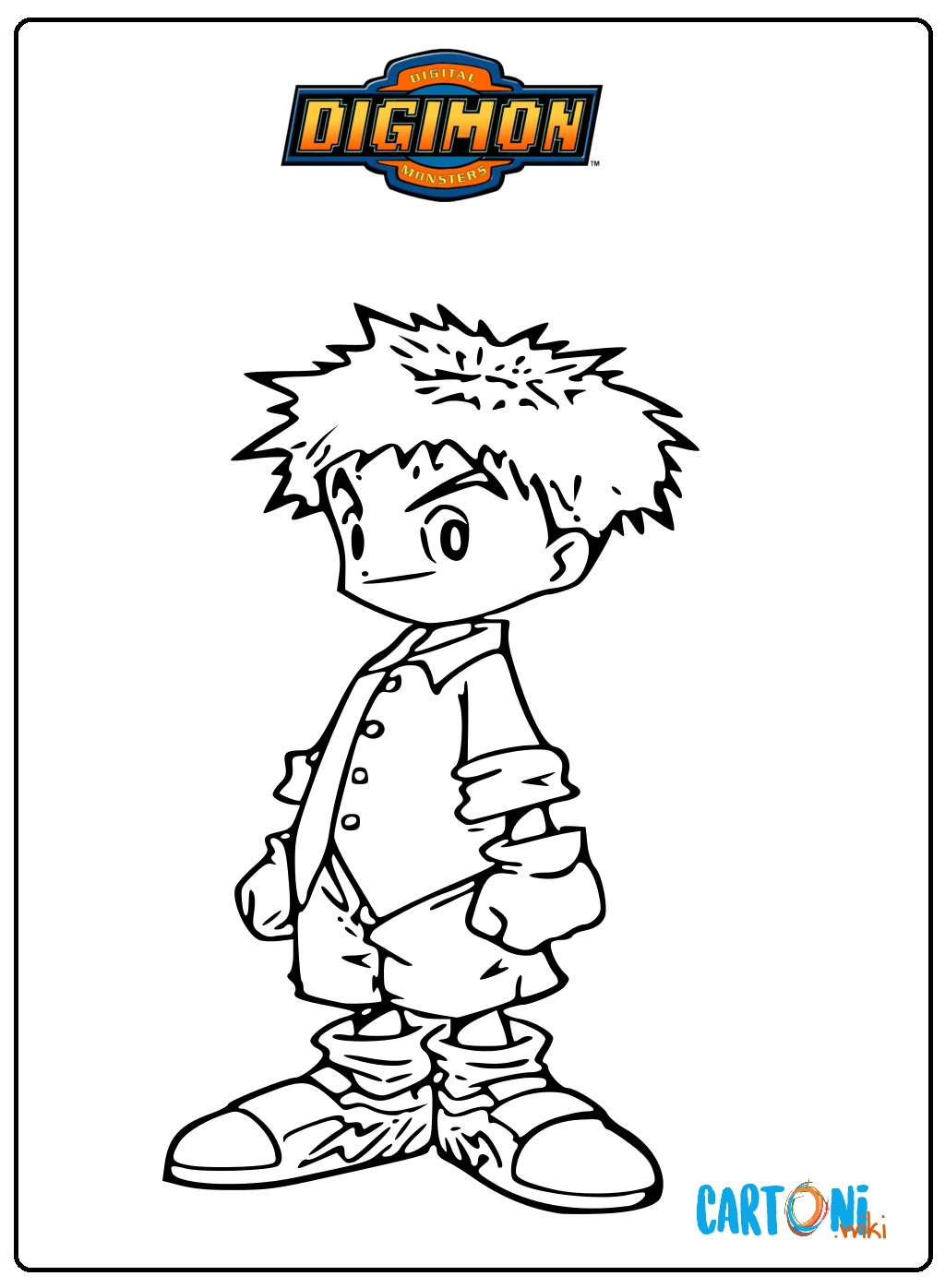 Colora Izzy dei Digimon - Stampa e colora