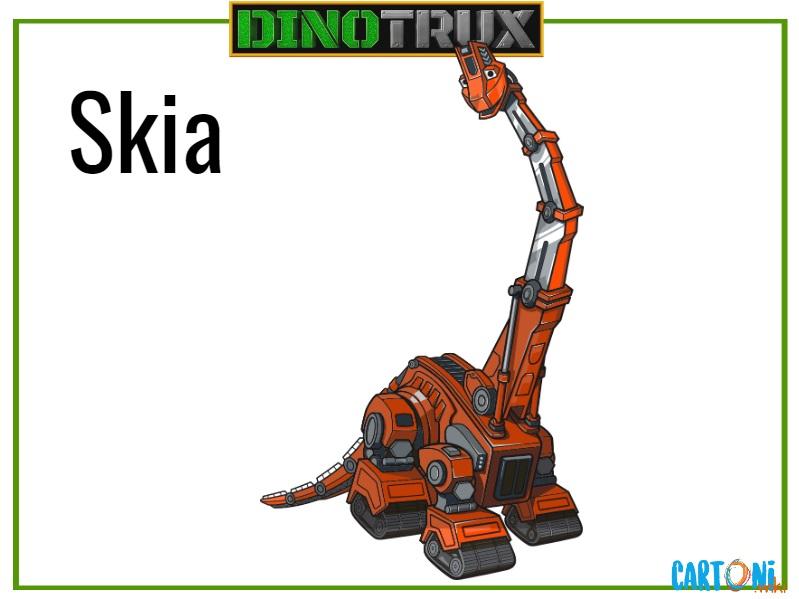 Dinotrux Skia characters cartoni animati personaggi canali tv bambini netflix super