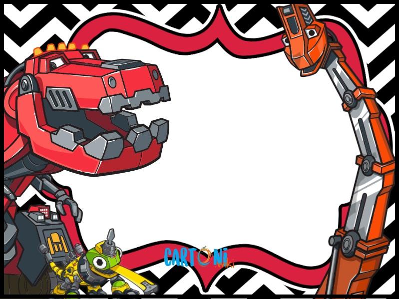 Dinotrux party invitations - Cartoni animati