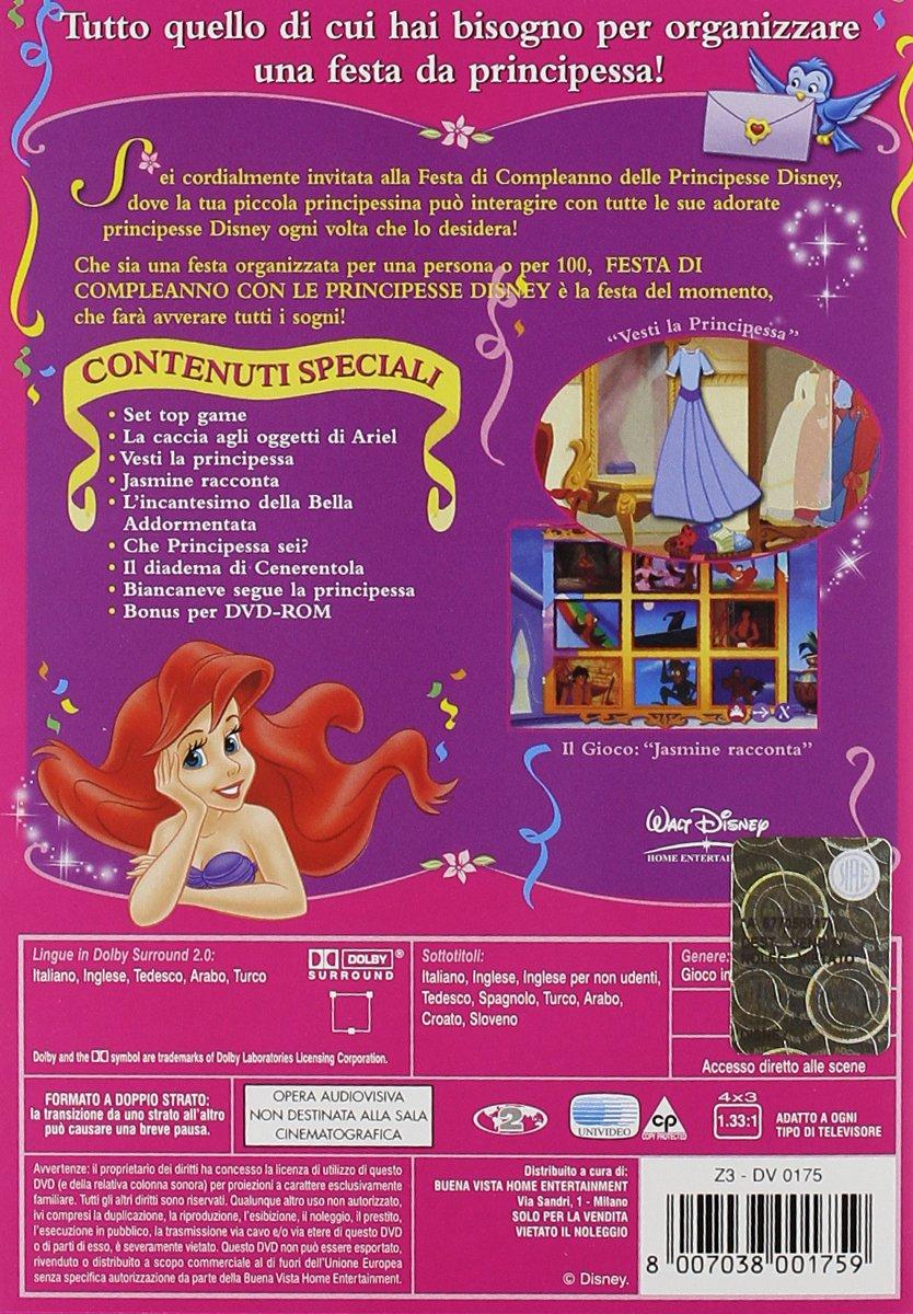 Festa di compleanno con le principesse Disney film cartoni animati Storie di Principesse vol.2 cover dvd film di animazione Disney Home Video