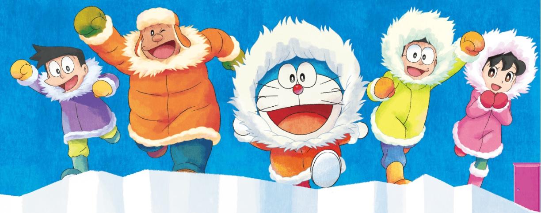 Doraemon il film 2018 in Italia dal 5 all'11 luglio 2018 Antartide personaggi