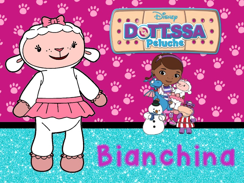 Bianchina pecorella bianca pecora Dottoressa Peluche personaggi characters doc mcstuffins Dottie cartone animato cartoni animati Disney Junior