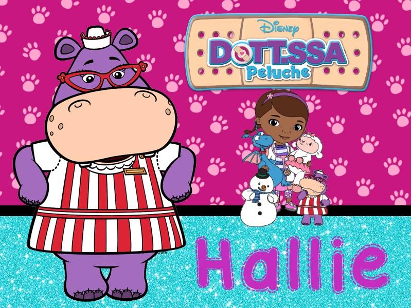 Hallie infermiera ippopotamo Dottoressa Peluche personaggi characters doc mcstuffins Dottie cartone animato cartoni animati Disney Junior