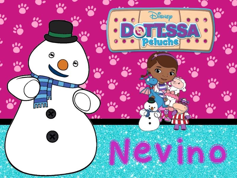 Nevino pupazzo neve giocattoli parlanti Dottoressa Peluche personaggi characters doc mcstuffins Dottie cartone animato cartoni animati Disney Junior