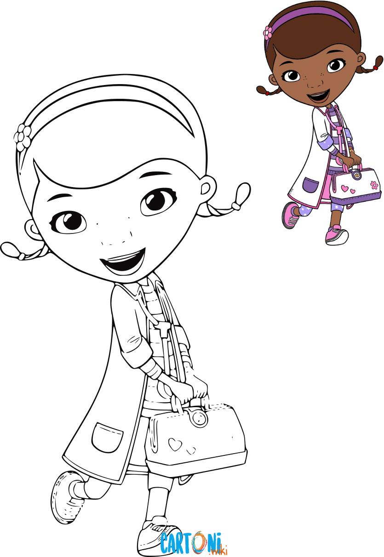 Dottoressa peluche disegni da colorare cartoni animati for Cartoni animati da stampare e colorare