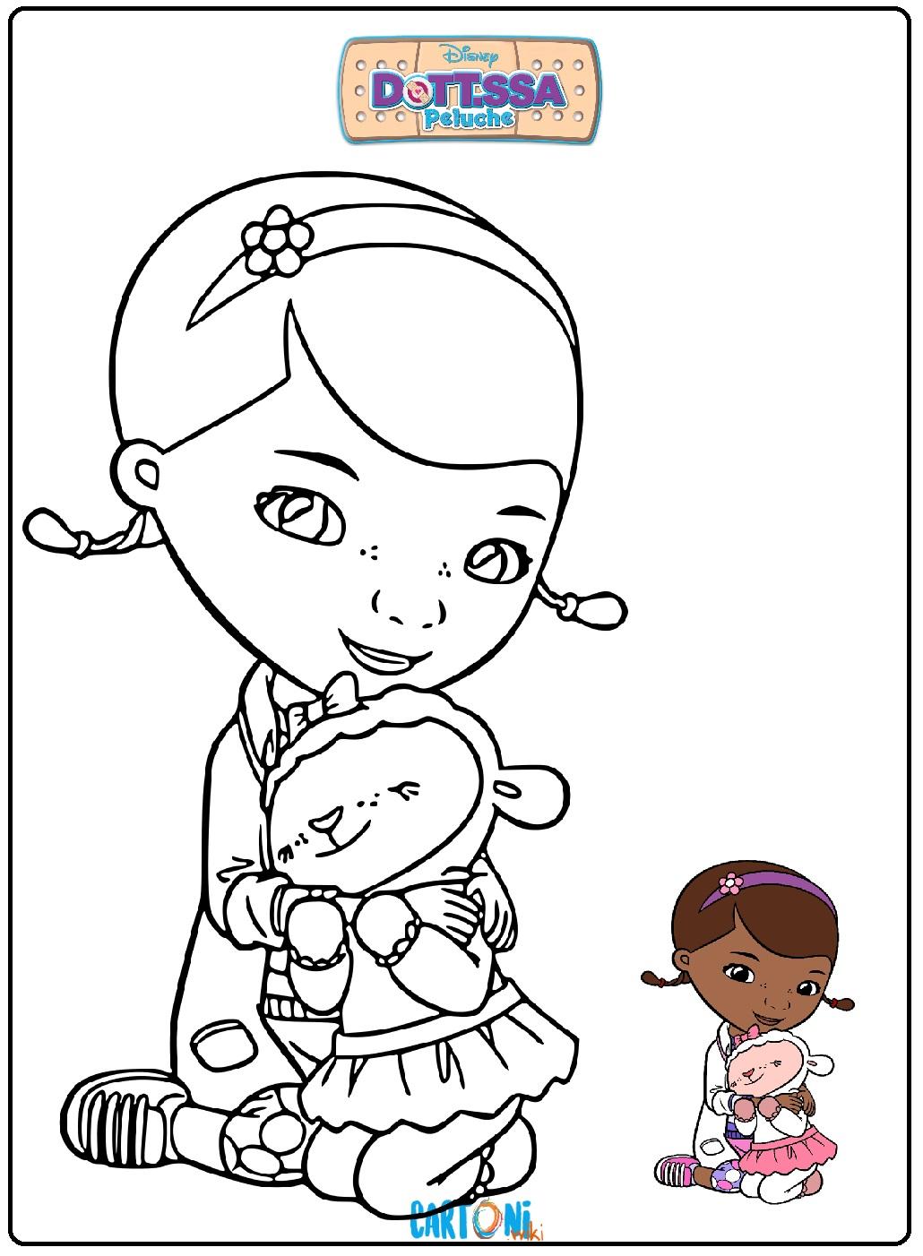 Stampa e colora Dottoressa Peluche - Disegni da colorare