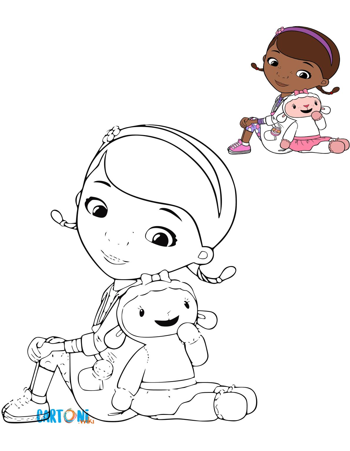 Stampa e colora dottoressa peluche cartoni animati for Disegni da colorare dottoressa peluche gratis