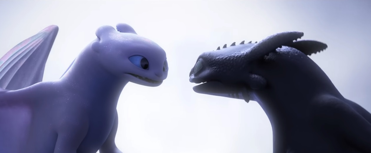 Furia chiara e furia scura - draghi Dragon Trainer il mondo nascosto - film di animazione 2019 - film Dreamworks - Draghi - How to Train Your Dragon: The Hidden World