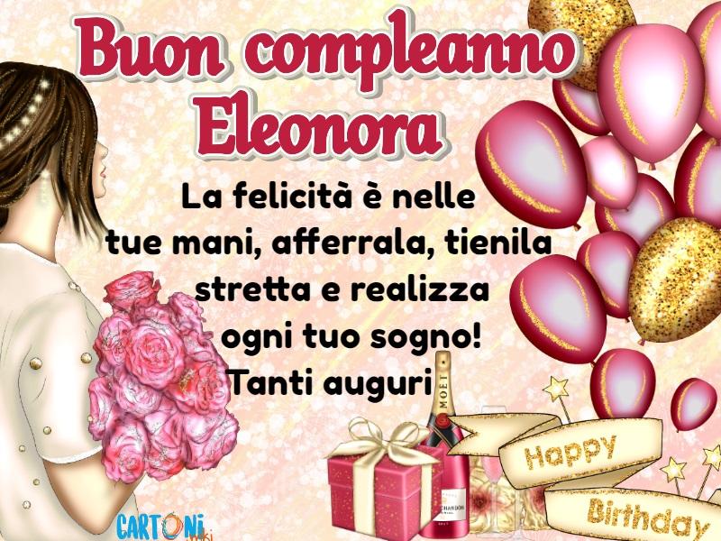 Popolare Auguri di buon compleanno Eleonora - Cartoni animati UI62