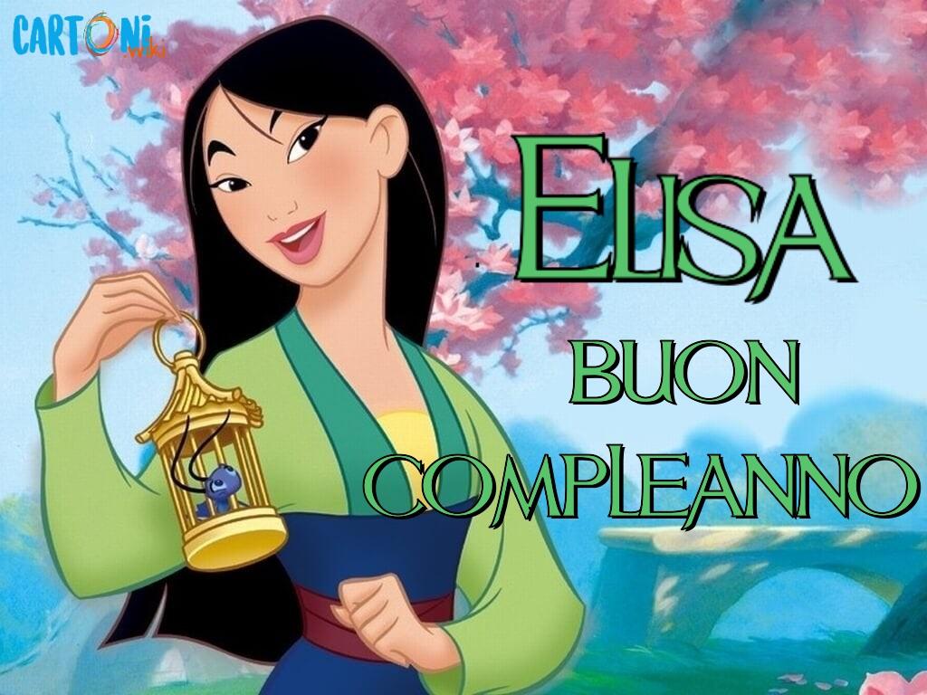Elisa buon compleanno - Cartoni animati