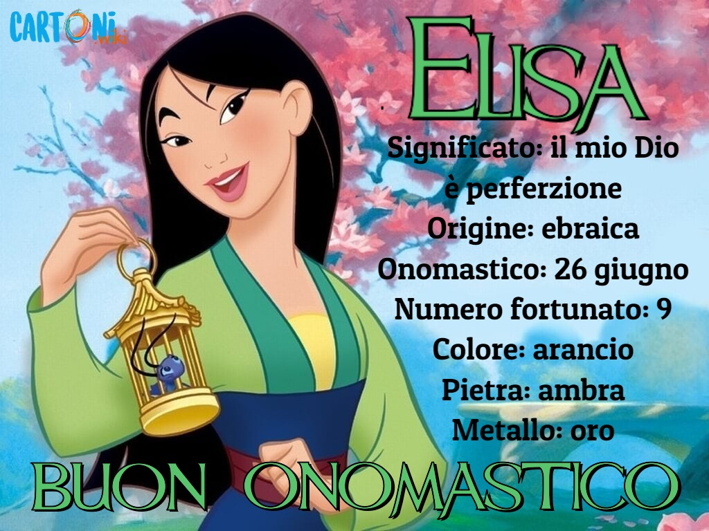 Buon onomastico Elisa - Elisa