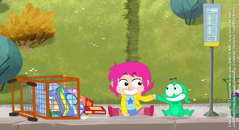 Ernest & Rebecca cartoni animati cyber studio microbo