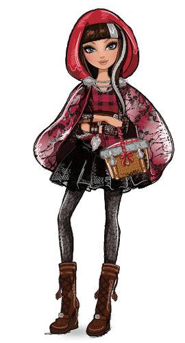Cerise Hood Ever After High cartoni animati favole figlia cappuccetto rosso e il lupo
