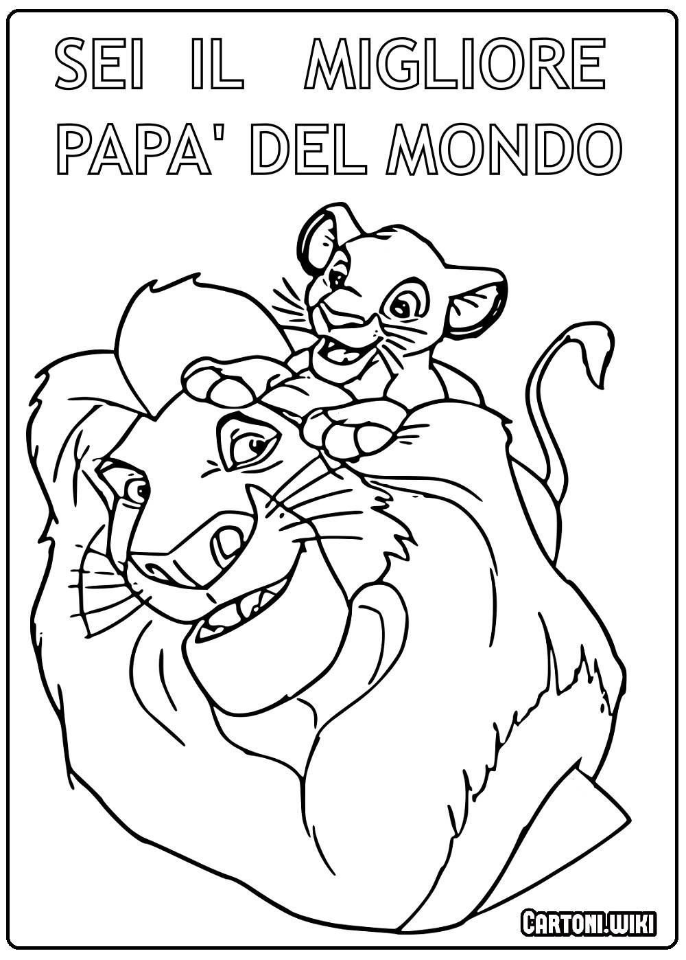 Miglior papà del mondo - Disegni da colorare