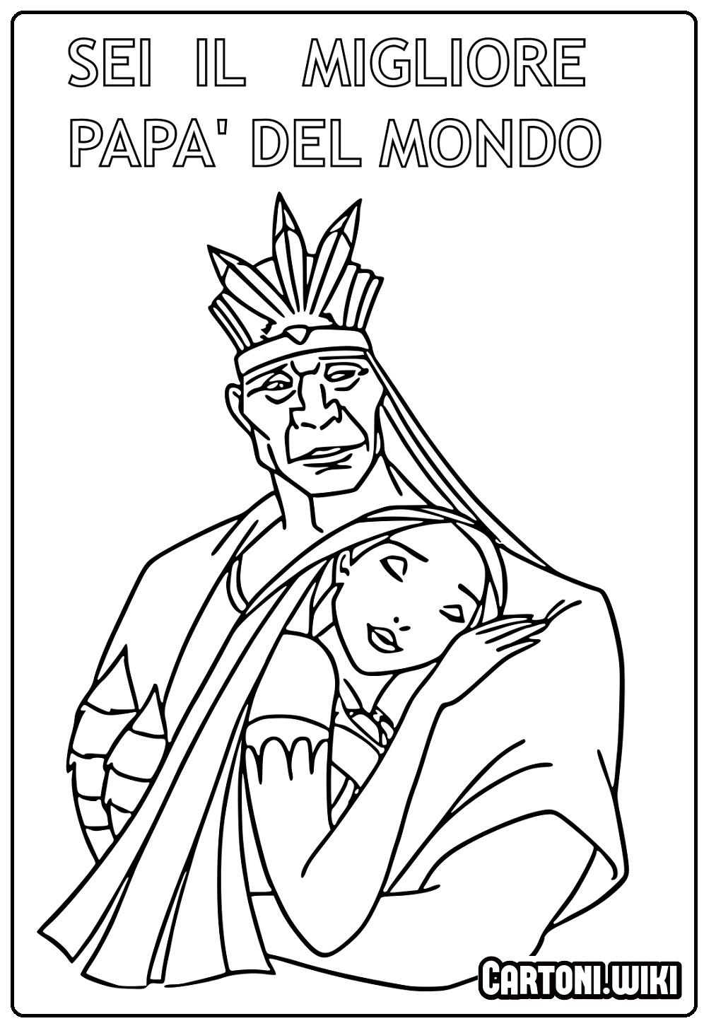 Al miglior papà del mondo disegno da stampare - Disegni da colorare
