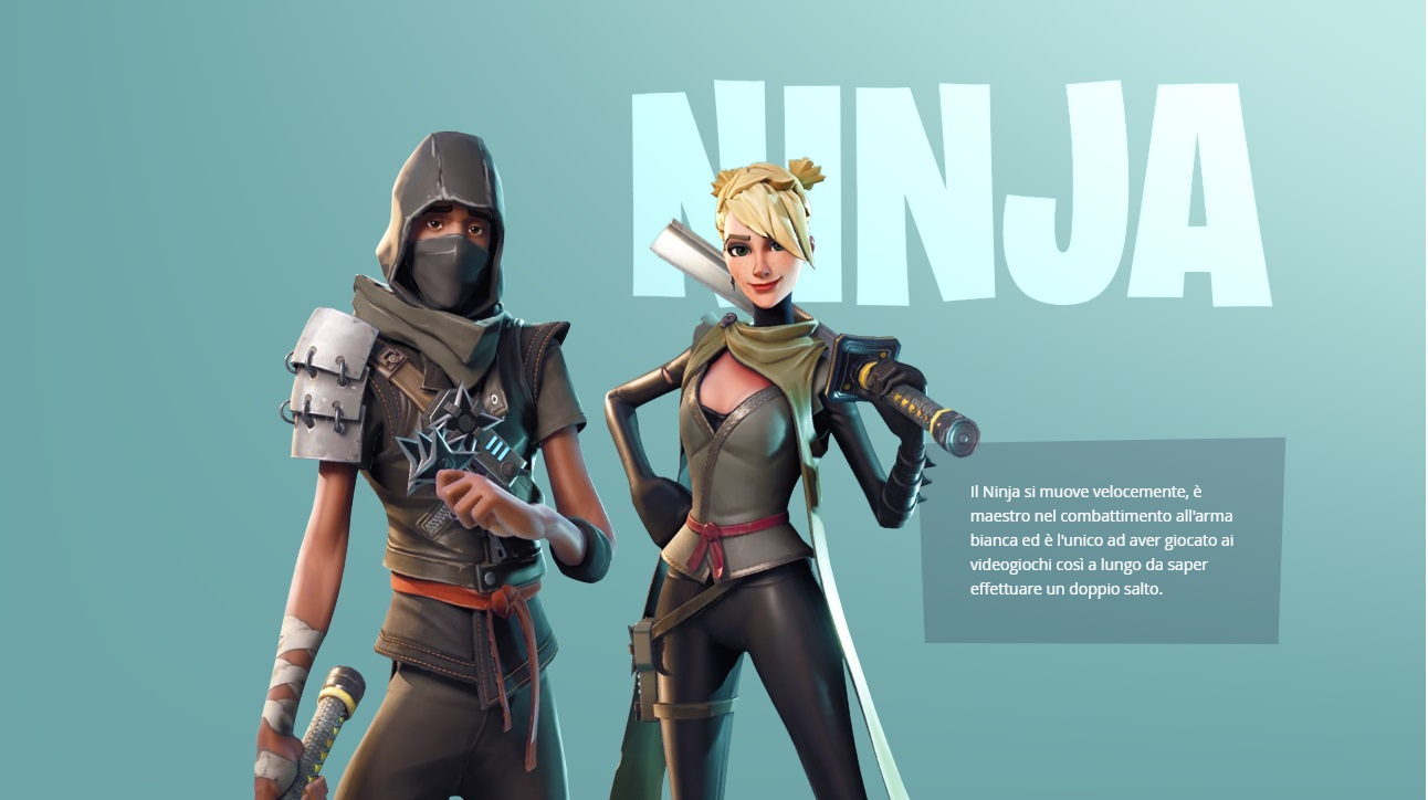 Fortnite gli eroi giocatori skin ninja chi sono?
