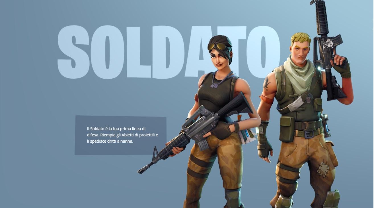 Fortnite gli eroi giocatori skin soldato chi sono?