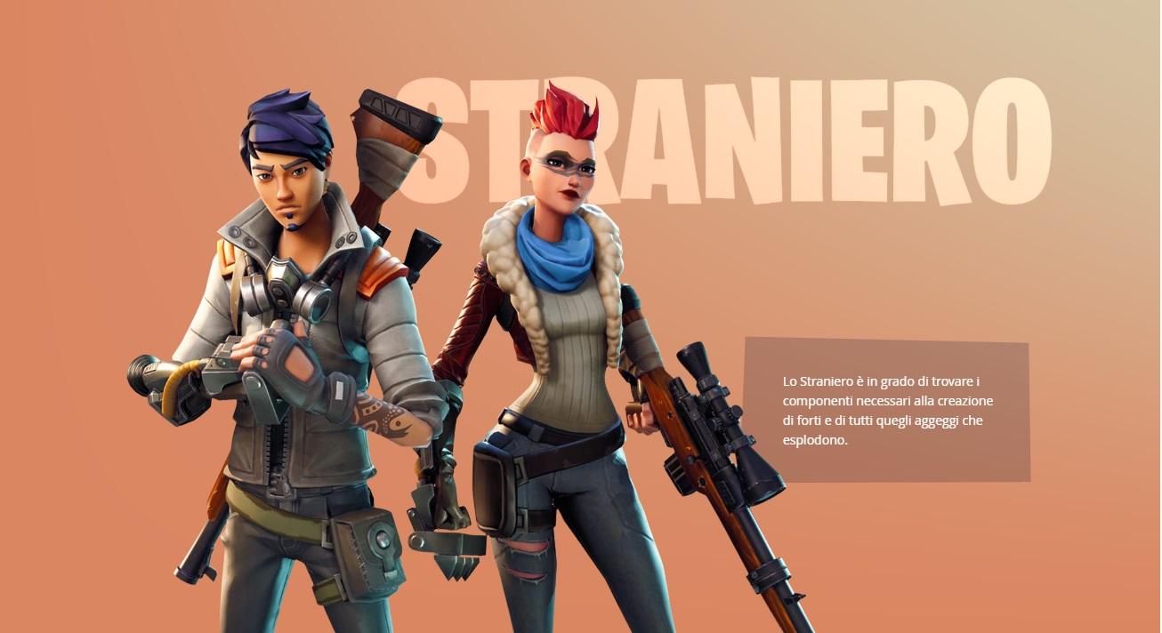 Fortnite gli eroi giocatori skin straniero chi sono?