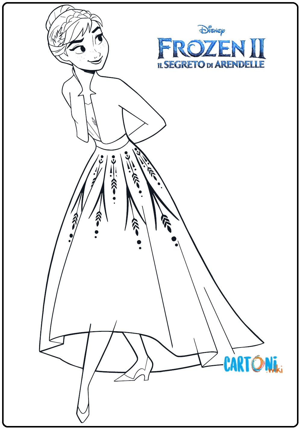 Frozen 2 Disegno Di Anna Da Colorare Cartoni Animati