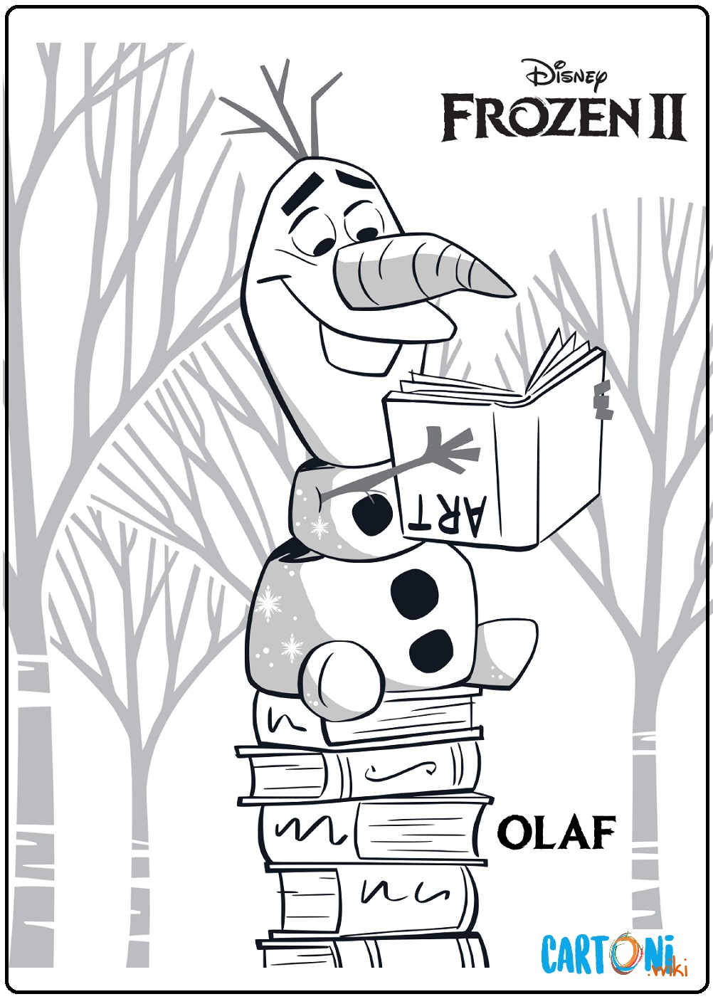 Olaf Frozen 2 disegno da colorare - Cartoni animati