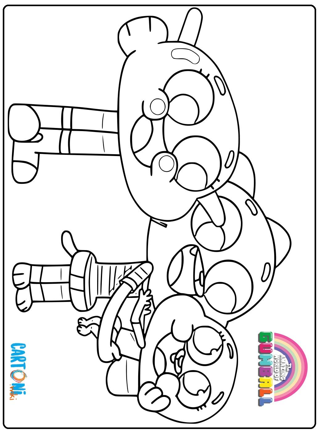 Disegni Gumball da colorare - Stampa e colora