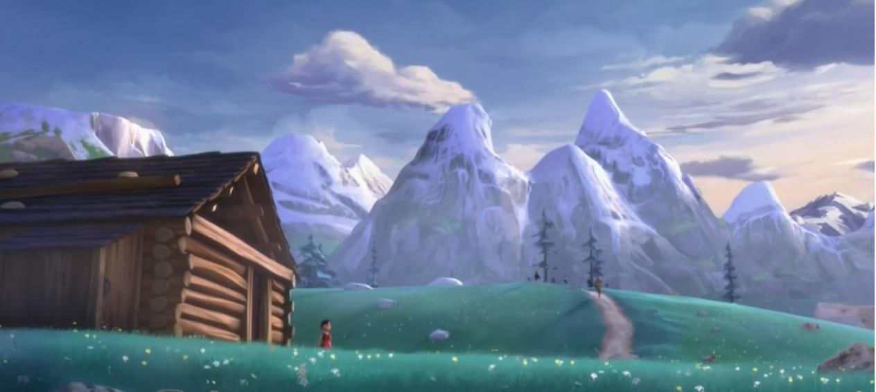 heidi le montagne 3d - cartoni animati - remake