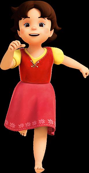 Hedi - personaggio - cartone animato - 3d - Rai Yoyo - la bambina sui monti - cartoni animati