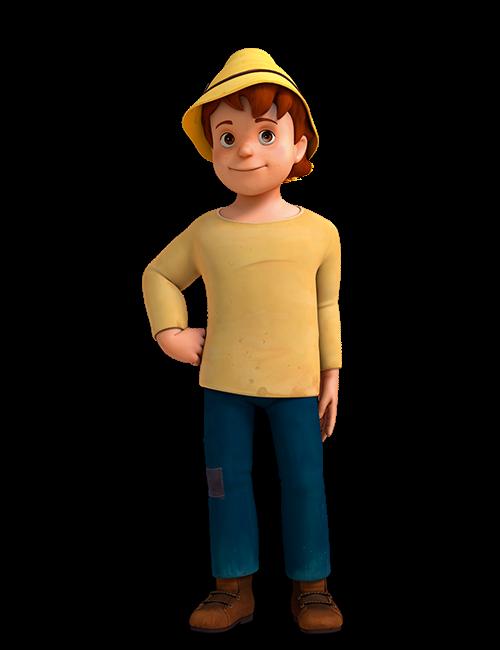 Hedi - Peter - Personaggi - cartone animato - 3d - Rai Yoyo - la bambina sui monti - cartoni animati