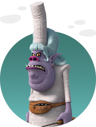 trolls dreamworks cartoni animati personaggi film d'animazione personaggio Chef dei Bergens