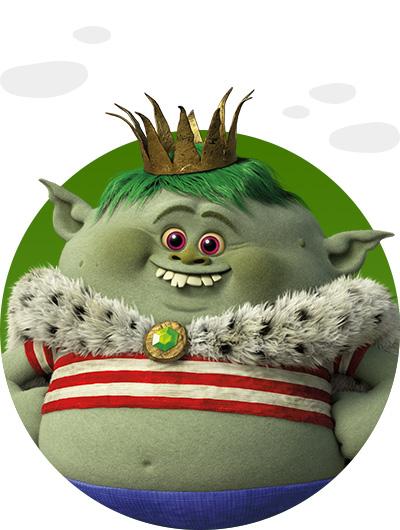 trolls dreamworks cartoni animati personaggi film d'animazione Bergens personaggio Principe Gristle