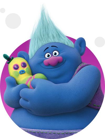 trolls dreamworks cartoni animati personaggi film d'animazione personaggio Biggie
