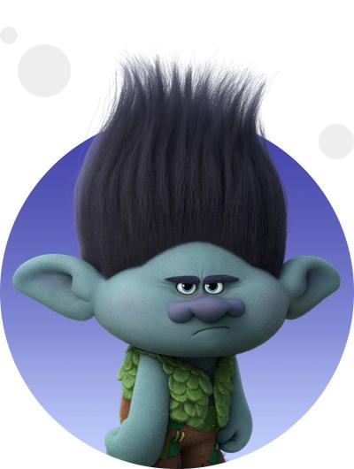 trolls dreamworks cartoni animati personaggi film d'animazione personaggio Brunch