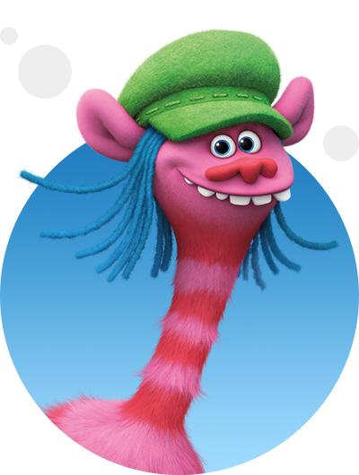 trolls dreamworks cartoni animati personaggi film d'animazione personaggio Cooper