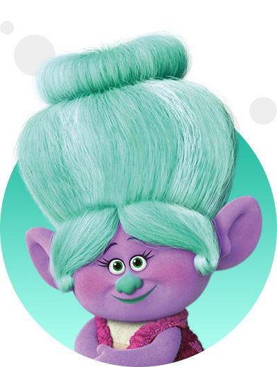 trolls dreamworks cartoni animati personaggi film d'animazione personaggio Nonna di Brunch Grandma