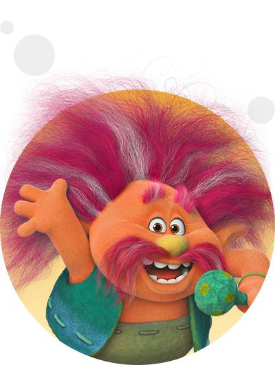 trolls dreamworks cartoni animati personaggi film d'animazione personaggio Re King Peppy