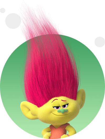 trolls dreamworks cartoni animati personaggi film d'animazione personaggio Mandy Sparkledust