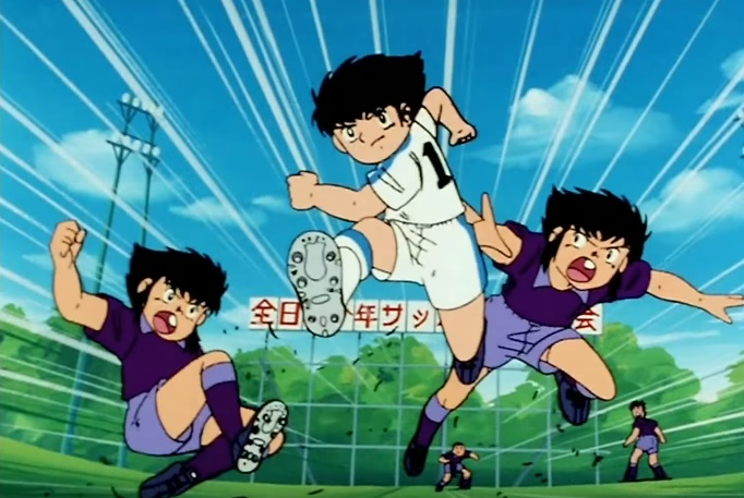 Holly e Benji anime manga Capitan Tsubasa cartone animato squadra hot dog fratelli gemelli Derrick campionato nazionale