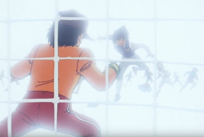 Holly e Benji mark Lenders sfida Benji e segna un goal - Anime - Manga Capitan Tsubasa