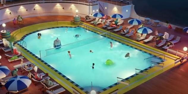 Hotel Transylvania 3 Una vacanza mostruosa - Film di animazione 2018 - Sony - Piscina della nave