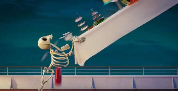 Hotel Transylvania 3 Una vacanza mostruosa - Film di animazione 2018 - Sony - Buffet a volontà sulla corciera