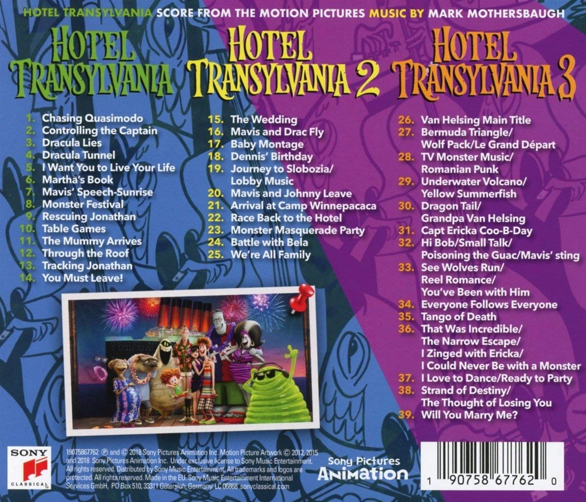 Hotel transylvania 3 original motion soundtrack music musica It's Party Time Sony Classic Mark Mothersbaugh
