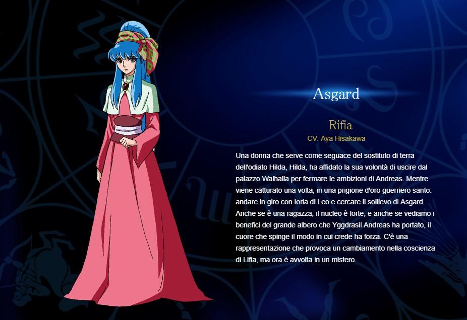 Rifia - Aya Hisakawa - I cavalieri di Asgard personaggi - saint seiya personaggi - saint seiya soul of gold - saint seiya personaggi - saint seiya characters - animae - cartoni animati