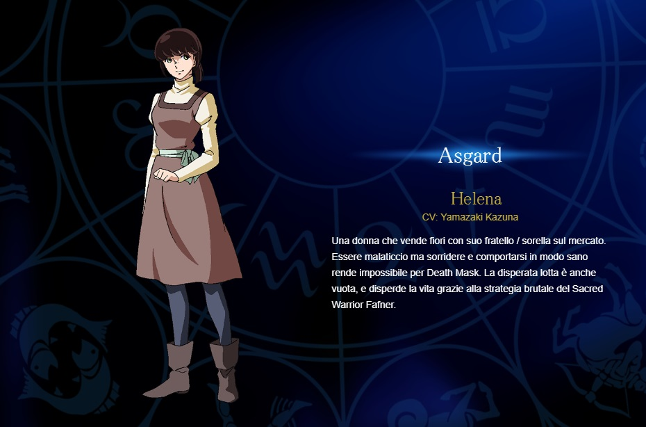 Helena - Aya Hisakawa - I cavalieri di Asgard personaggi - saint seiya personaggi - saint seiya soul of gold - saint seiya personaggi - saint seiya characters - animae - cartoni animati