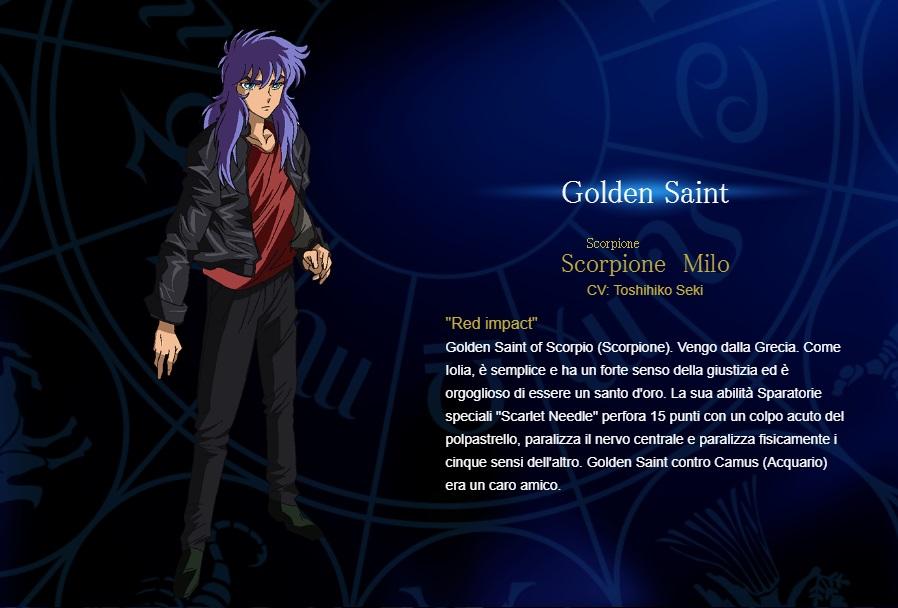 Scorpione - I cavalieri dello zodiaco personaggi - saint seiya personaggi - saint seiya soul of gold - saint seiya personaggi - saint seiya characters - animae - cartoni animati