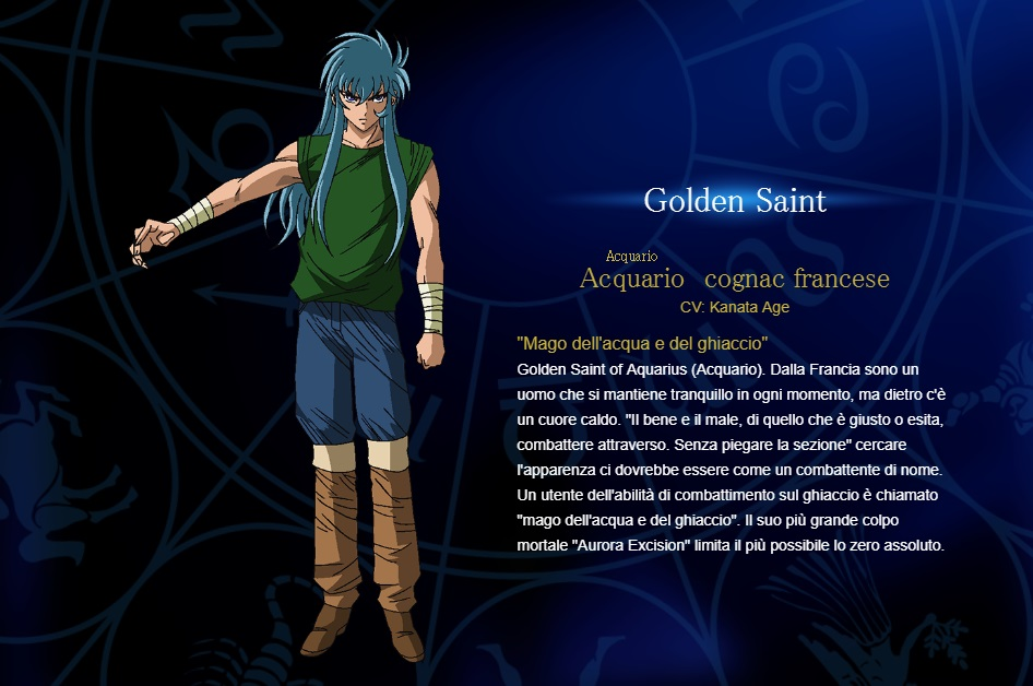 Acquario - I cavalieri dello zodiaco personaggi - saint seiya personaggi - saint seiya soul of gold - saint seiya personaggi - saint seiya characters - animae - cartoni animati