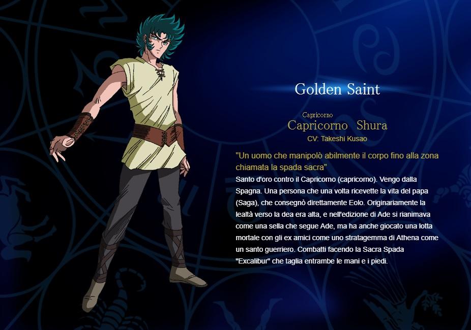 Capricorno - I cavalieri dello zodiaco personaggi - saint seiya personaggi - saint seiya soul of gold - saint seiya personaggi - saint seiya characters - animae - cartoni animati