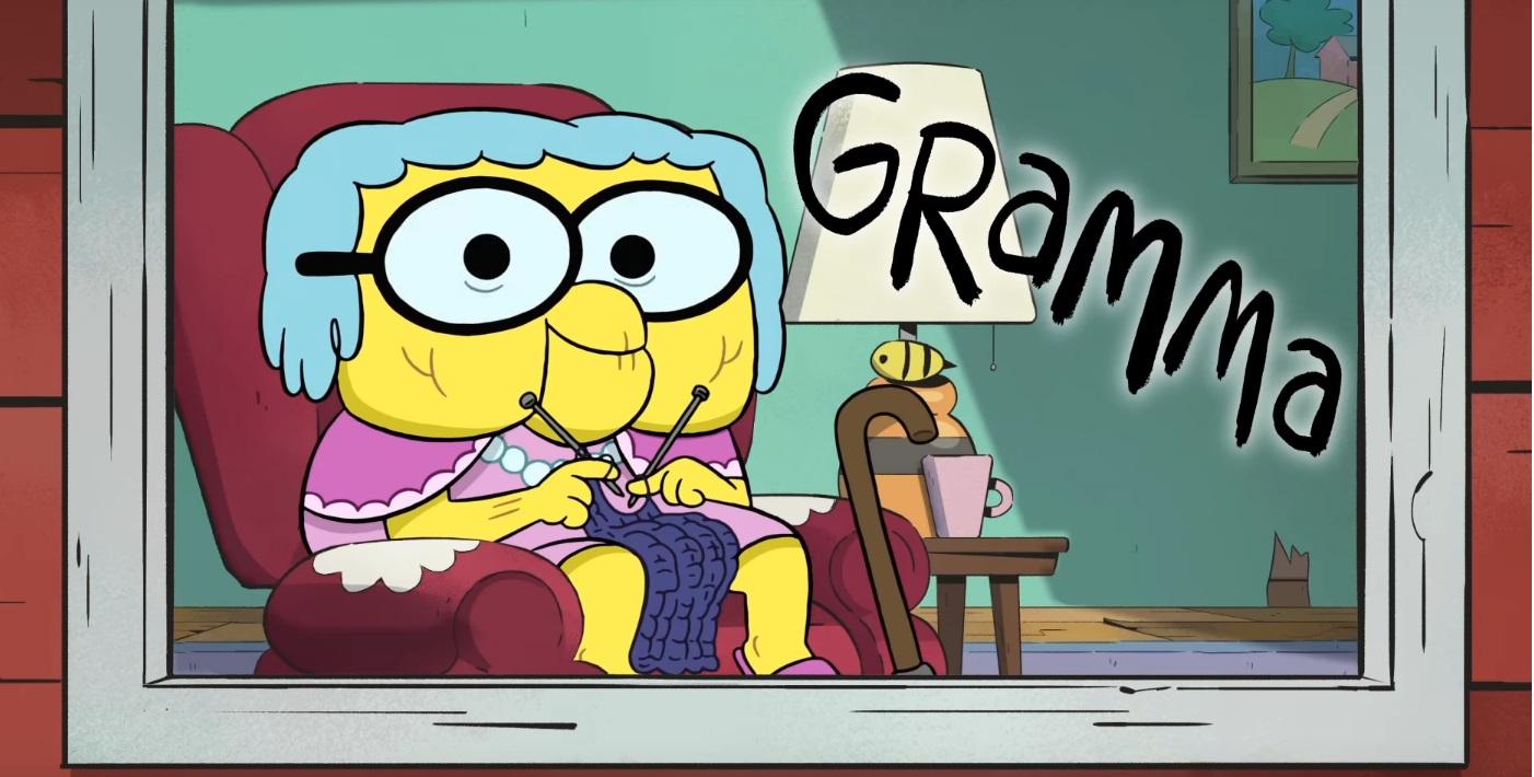 I greens in città -Big City Greens - cartoni animati - personaggi Nonna - disney channel - disney Xd