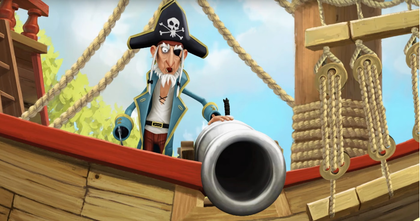 I pirati della porta accanto cartoni animati - the pirate the next door - rai gulp