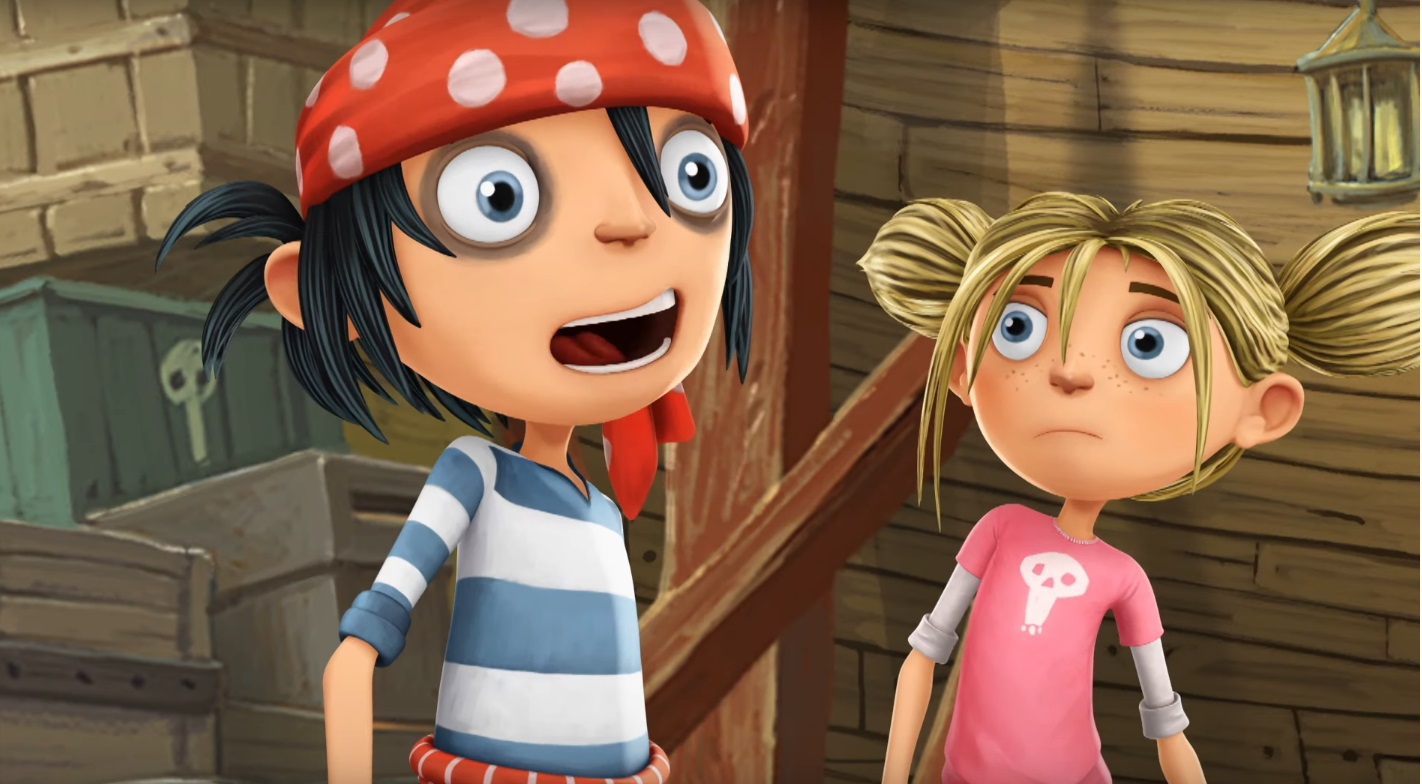 I pirati della porta accanto cartoni animati - the pirate the next door - protagonisti